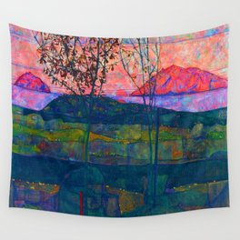 Egon Schiele Setting Sun Wall Tapestry