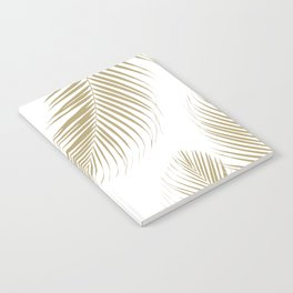 Palm Leaves - Gold Cali Vibes #3 #tropical #decor #art #society6 Notebook