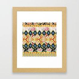 Folkloric Crazy Quilt (printed) Framed Art Print