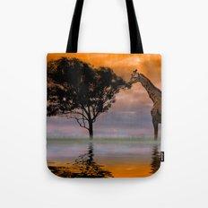 Giraffe at Sunset Tote Bag