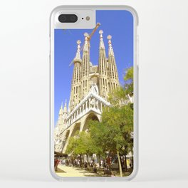 Barcelona Sagrada Familia Clear iPhone Case