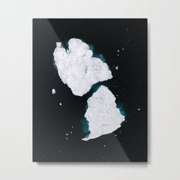 Minimalist dancing Icebergs – Arctic Photography Metal Print