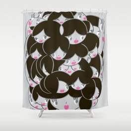 Girlie Heads! Shower Curtain