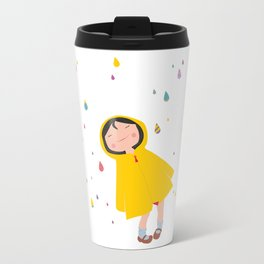 girl in the rain Travel Mug