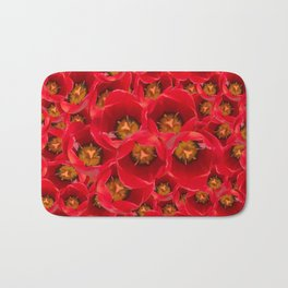Venetian Red Tulips Bath Mat