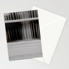 """""""but the person underneath / where does he go?"""" Stationery Cards"""