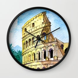 Summer in Rome - Colosseum  Wall Clock