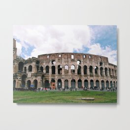 Italy Rome Colosseum Photography Art Decor Wall Art Black and White  Metal Print