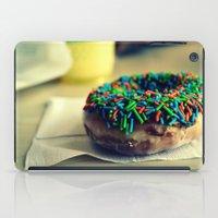 doughnut iPad Cases featuring Doughnut by lauraflores013