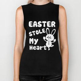 Easter Day T-Shirt Easter Shirts Rabbit Graphic Funny Eggs Biker Tank