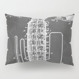 Whisky Patent - Whisky Still Art - Black Chalkboard Pillow Sham