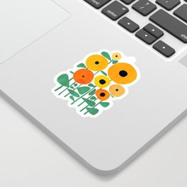 Sunflower and Bee Sticker