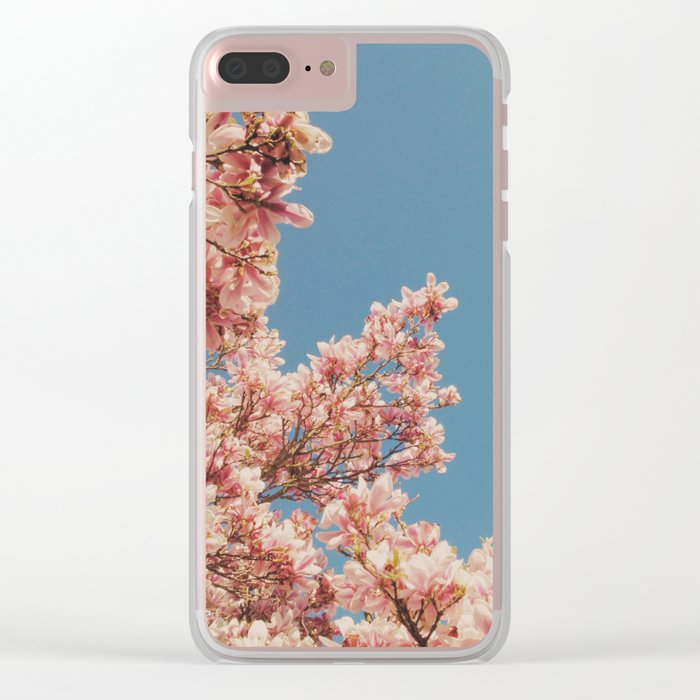 Pink Blossoms Clear iPhone Case