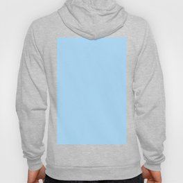 Solid Pale Light Blue Color Hoody
