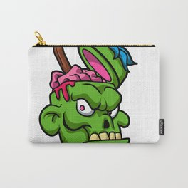 Zombie Head Illustration Carry-All Pouch
