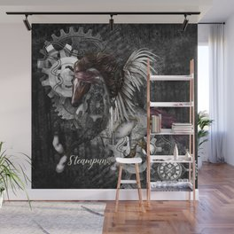 Wonderful steampunk horse with wings Wall Mural