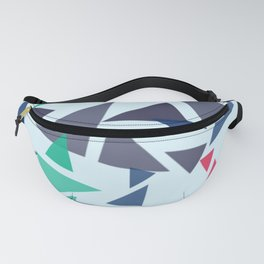Colorful geometric pattern VI Fanny Pack