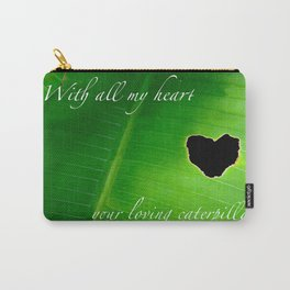 Heart design made by a romantic caterpillar Carry-All Pouch