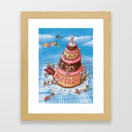 Sweet Construction Framed Art Print