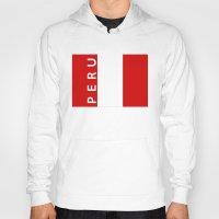 peru Hoodies featuring flag of Peru by tony tudor