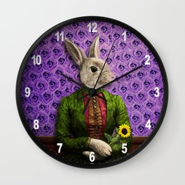 Miss Bunny Lapin in Repose Wall Clock