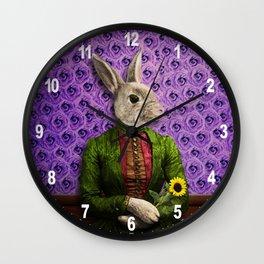 Miss Bunny Lapin in Repose Wall Clock