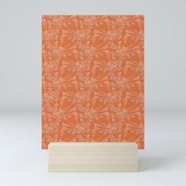 Agapanthus - orange Mini Art Print