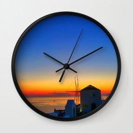 Santorini 17 Wall Clock
