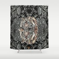 leopard Shower Curtains featuring Leopard by MMKDESIGN