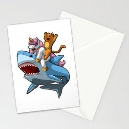 Shark Unicorn Cat - Best Mythical Friends Stationery Cards