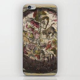 Keller's Harmonia Macrocosmica - Northern Celestial and Terrestrial Hemispheres 1708 iPhone Skin