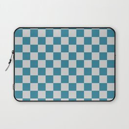 Teal and Grey Check Laptop Sleeve