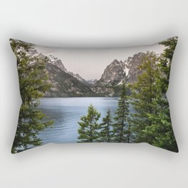 Grand Teton Wanderlust Lake Adventure - Nature Photography Rectangular Pillow