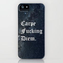 Carpe Diem (Seize The Day) iPhone Case