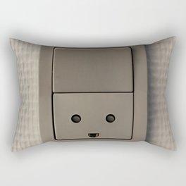 Smiling Power Outlet Rectangular Pillow