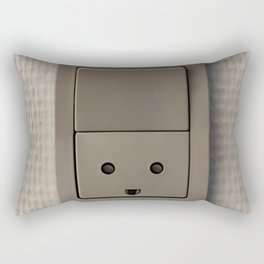 Smiling Power Outlet Rectangular Pillow
