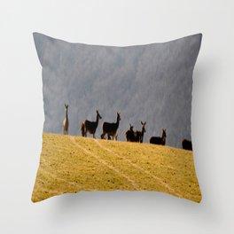 Exmoor Deer Throw Pillow