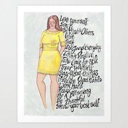 Yellow Affirmations! Art Print