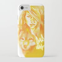 bad wolf iPhone & iPod Cases featuring Bad Wolf by Erin Garey