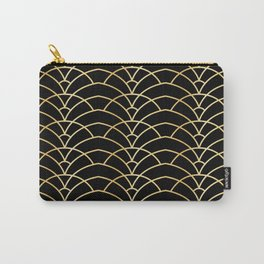 Art Deco Series - Black & Gold Carry-All Pouch