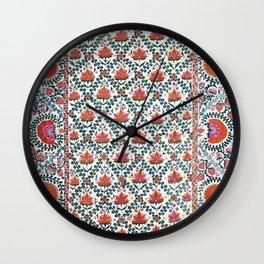 Shakhrisyabz  Suzani Uzbekistan Print Wall Clock