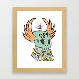Wing Skull (Off) Framed Art Print