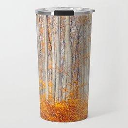 orange autumn Travel Mug