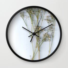 Dry Whites / Flowers Wall Clock
