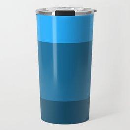 Blue Gradient Pattern Travel Mug