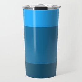 Blue Gradient Pattern Travel Mug