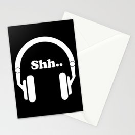 Headphones and music Stationery Cards