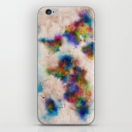 world map watercolor  iPhone Skin