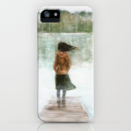 Girl on the pier iPhone Case