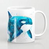 orca Mugs featuring Orca  by Slaveika Aladjova